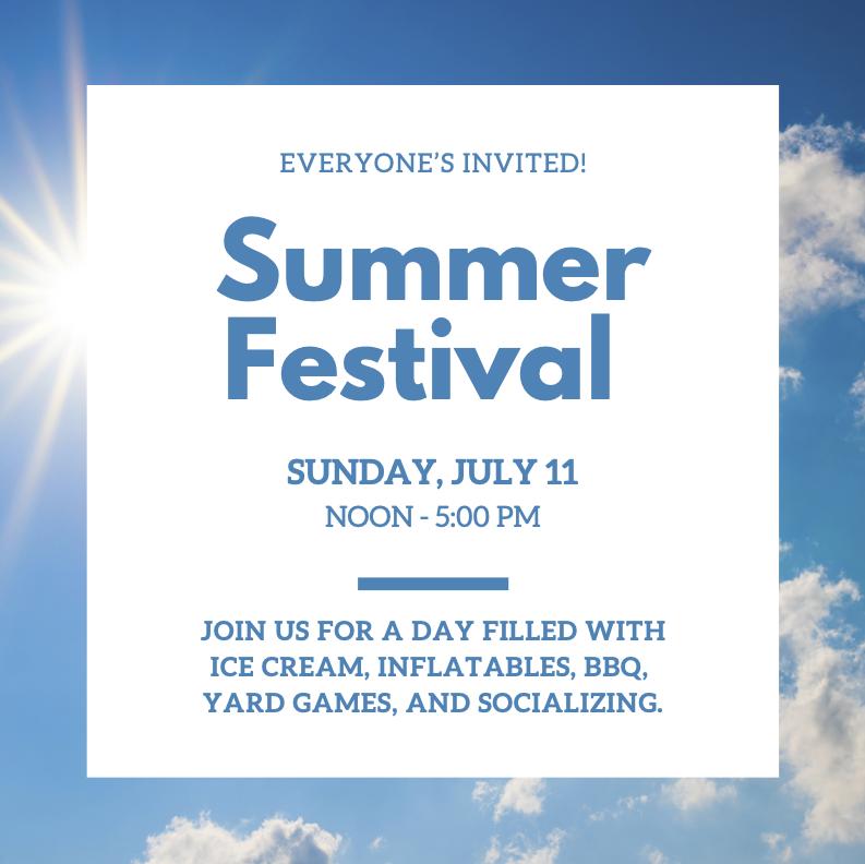 Summer Festival Notice